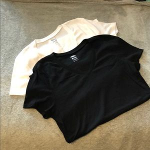 TWO Old Navy V-neck Tees